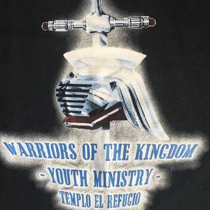 Vtg Warriors of the kingdom t shirt Jerzees M